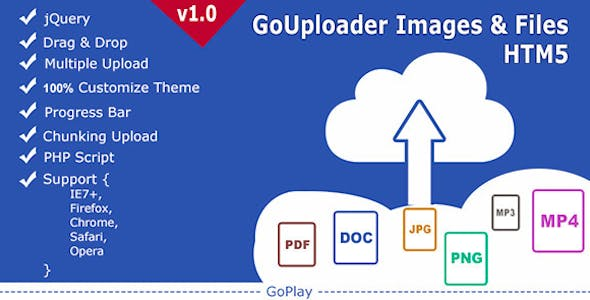GoUploader Images & Files HTML5 (multiuploader)