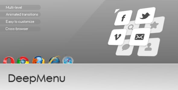 DeepMenu - multi level navigation menu