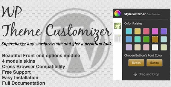 WP Theme Customizer - CodeCanyon Item for Sale