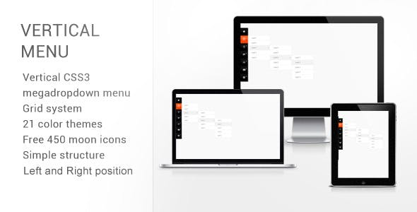 Vertical CSS3 Megadropdown Menu