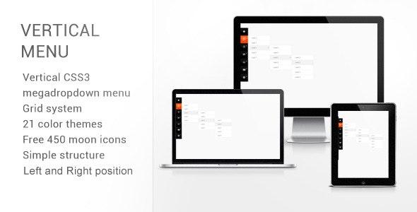 Vertical CSS3 Megadropdown Menu - CodeCanyon Item for Sale