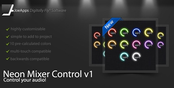Neon Mixer Control - CodeCanyon Item for Sale