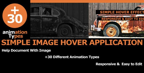 Simple Image Hover Application