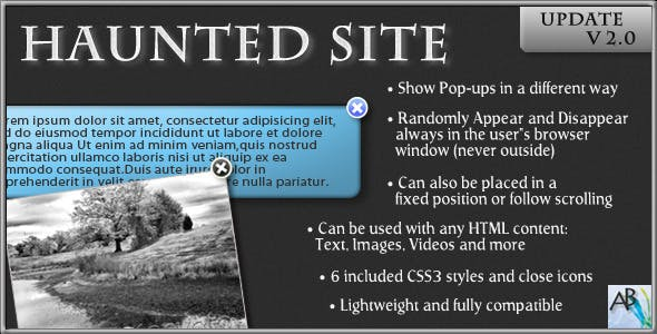 Haunted Site | Pop-up Elements jQuery Plugin