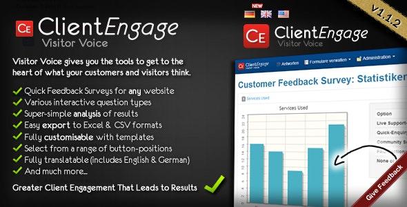 Visitor Voice - Effective Website Surveys - CodeCanyon Item for Sale