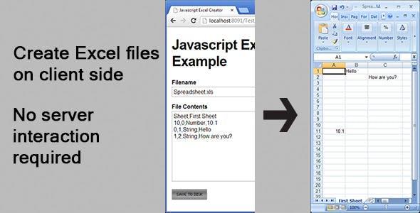 Javascript Excel Creator