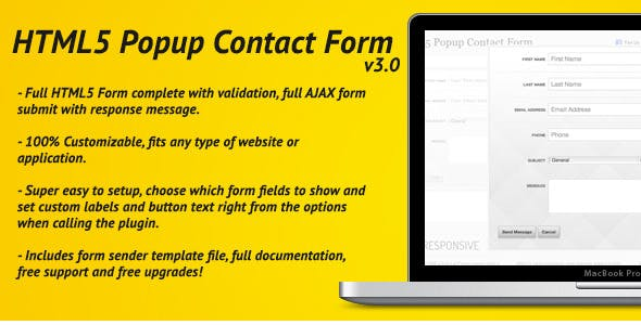 HTML5 Pop Up Contact Form With AJAX