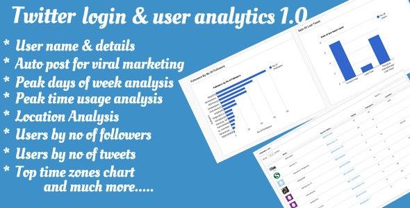 Twitter Login & User Analytics - CodeCanyon Item for Sale
