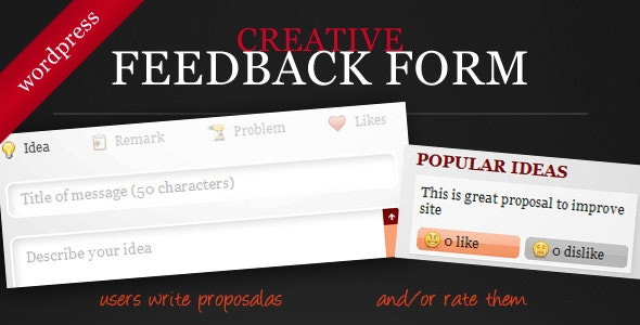 Creative Feedback Form with Voting System - CodeCanyon Item for Sale