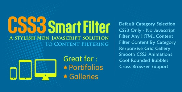 CSS3 Smart Filter - CodeCanyon Item for Sale