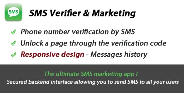 SMS Verification & Marketing App