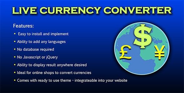Live Currency Converter v.1.2 - CodeCanyon Item for Sale