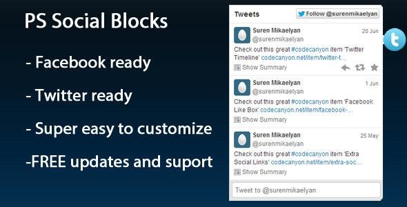 PS Social Blocks - CodeCanyon Item for Sale