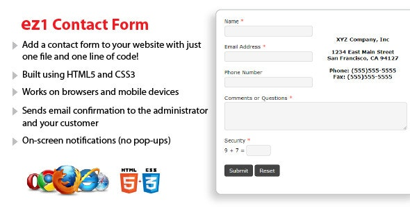 ez1 Contact Form - CodeCanyon Item for Sale