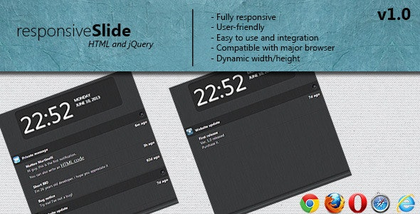 responsive Slide notification - CodeCanyon Item for Sale