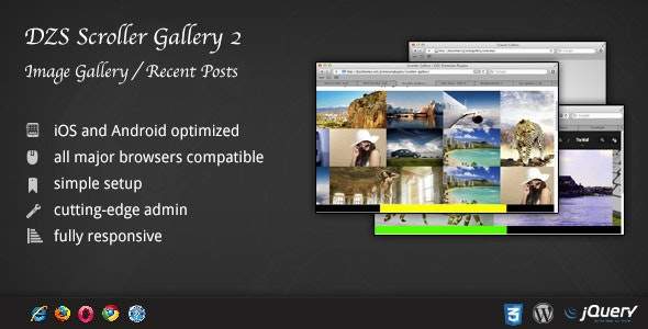 Scroller Gallery 2 - Recent Posts Teaser WordPress - CodeCanyon Item for Sale
