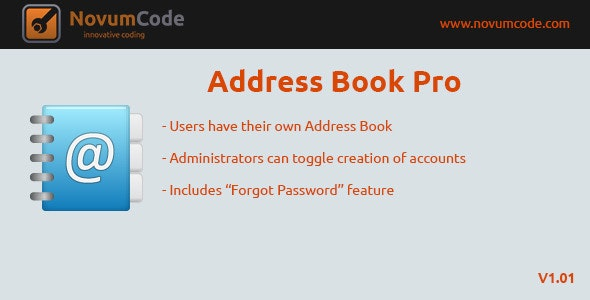 Address Book Pro - CodeCanyon Item for Sale