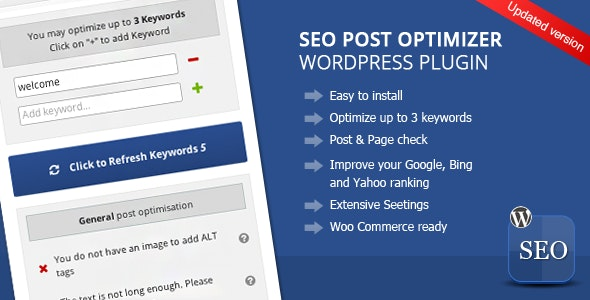 Wordpress SEO Post Optimizer - CodeCanyon Item for Sale
