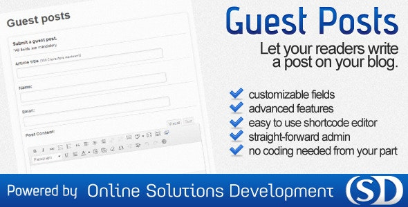 WordPress Guest Posts - CodeCanyon Item for Sale