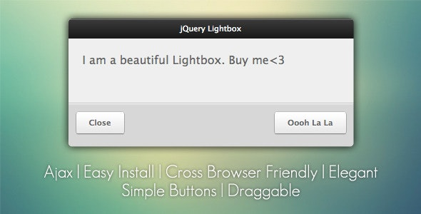 jQuery Lightbox Grooveshark Style - CodeCanyon Item for Sale