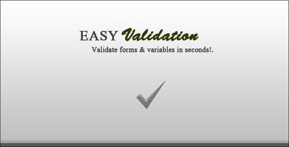 EasyValidation - PHP Special Form Validation Class
