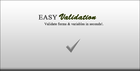 EasyValidation - PHP Special Form Validation Class - CodeCanyon Item for Sale