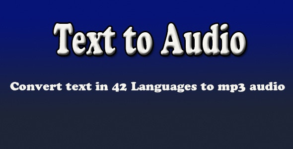 Text to Audio - CodeCanyon Item for Sale