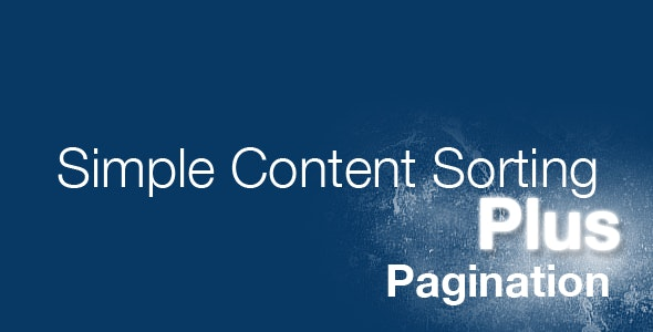 jQuery Simple Content Sorting Plus Plugin - CodeCanyon Item for Sale