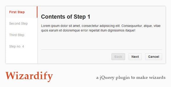 Wizardify jQuery Plugin