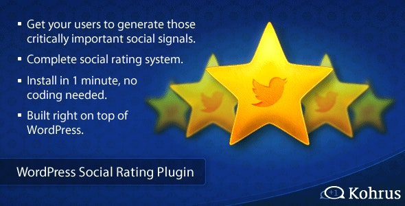 WordPress Social Rating Plugin  - CodeCanyon Item for Sale