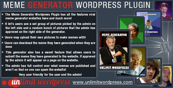 Meme Generator Wordpress Plugin - CodeCanyon Item for Sale