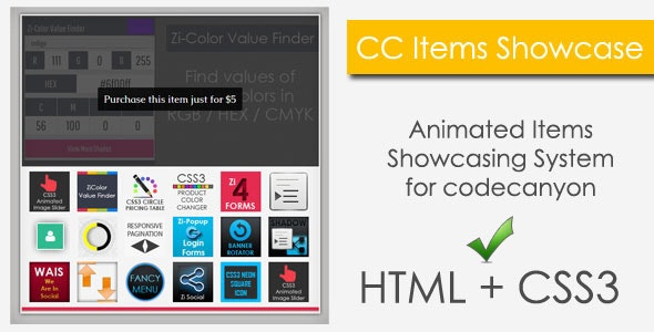 CC Items Showcase - CodeCanyon Item for Sale
