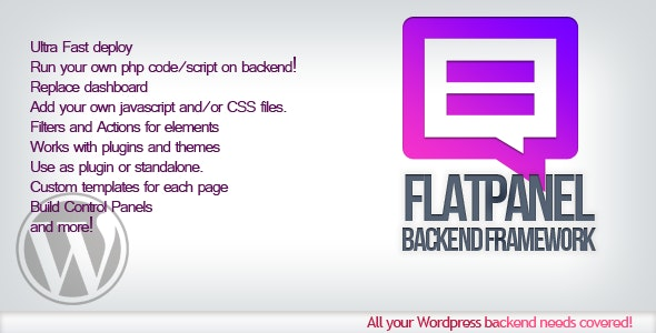 Flatpanel Backend Framework - CodeCanyon Item for Sale