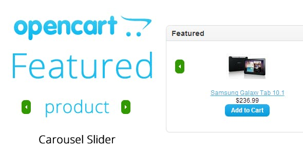Opencart : Featured Products Slider Carousel