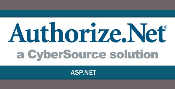Authorize.Net Payment Gateway for ASP.Net - CodeCanyon Item for Sale