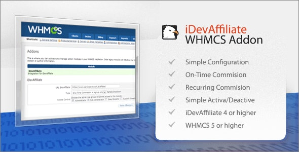 iDevAffiliate Integration for WHMCS - CodeCanyon Item for Sale