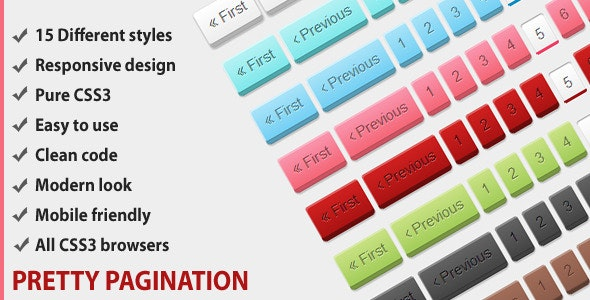 Pretty responsive CSS3 pagination - CodeCanyon Item for Sale