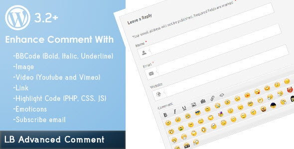 LB Advanced Comment for Wordpress - CodeCanyon Item for Sale