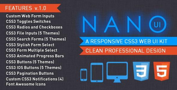 NANO UI - CSS3 Web Elements UI Kit - CodeCanyon Item for Sale
