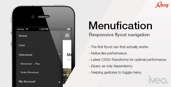 Menufication - Responsive Fly-Out Menu - CodeCanyon Item for Sale