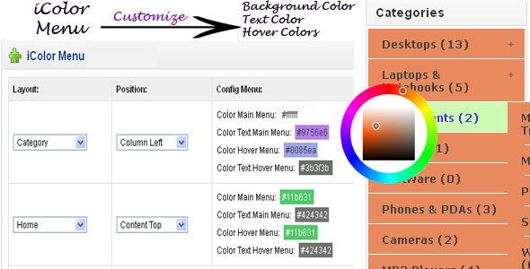 iColor - Custom Opencart Menu - CodeCanyon Item for Sale