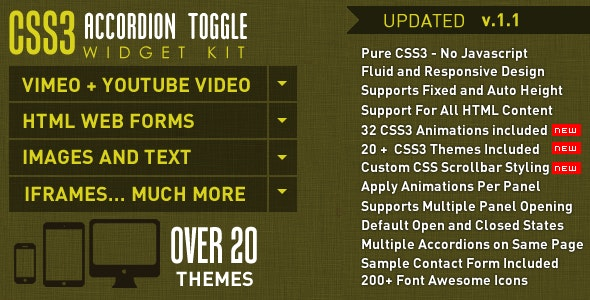 CSS3 Accordion and Toggle Widget Kit - CodeCanyon Item for Sale