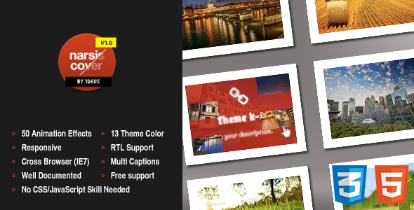 Narsis Cover, CSS3 Image Hover Animation Effect - CodeCanyon Item for Sale
