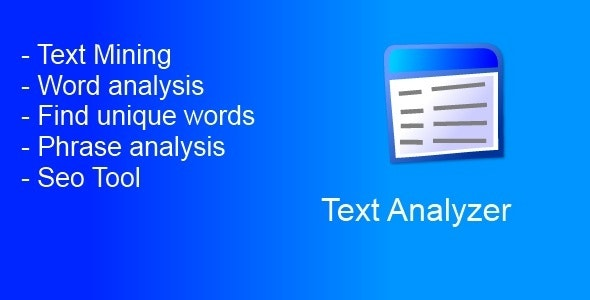 Text Analyzer - CodeCanyon Item for Sale