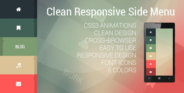 Clean Responsive Side Menu