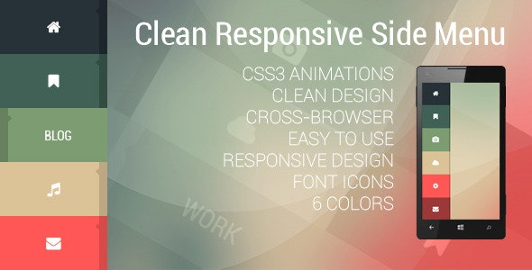 Clean Responsive Side Menu - CodeCanyon Item for Sale