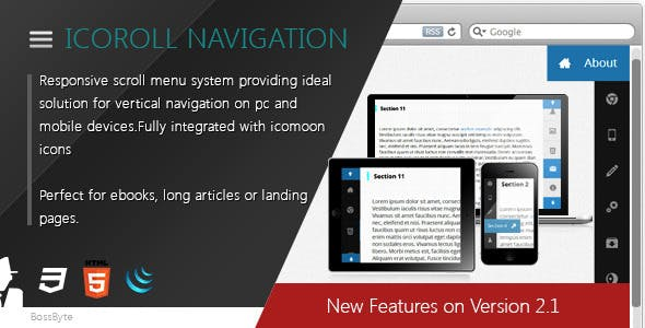 IcoRoll - Scroll Navigation System
