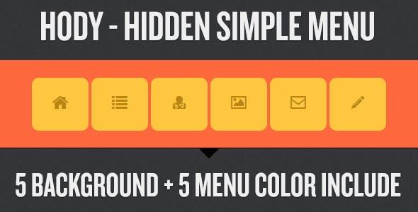 Hody - Hidden Simple Menu