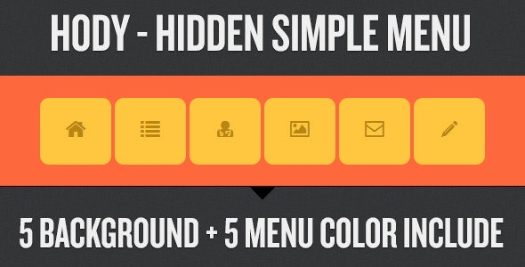 Hody - Hidden Simple Menu - CodeCanyon Item for Sale