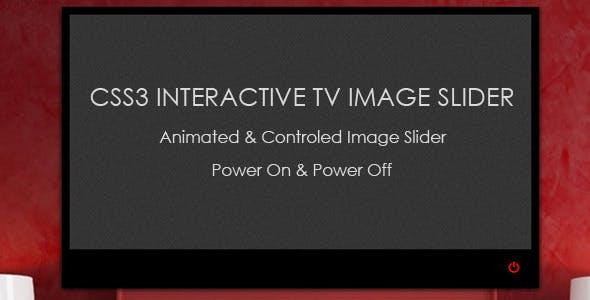 CSS3 Interactive TV Image Slider